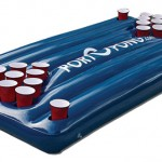 inflatable floating beer pong
