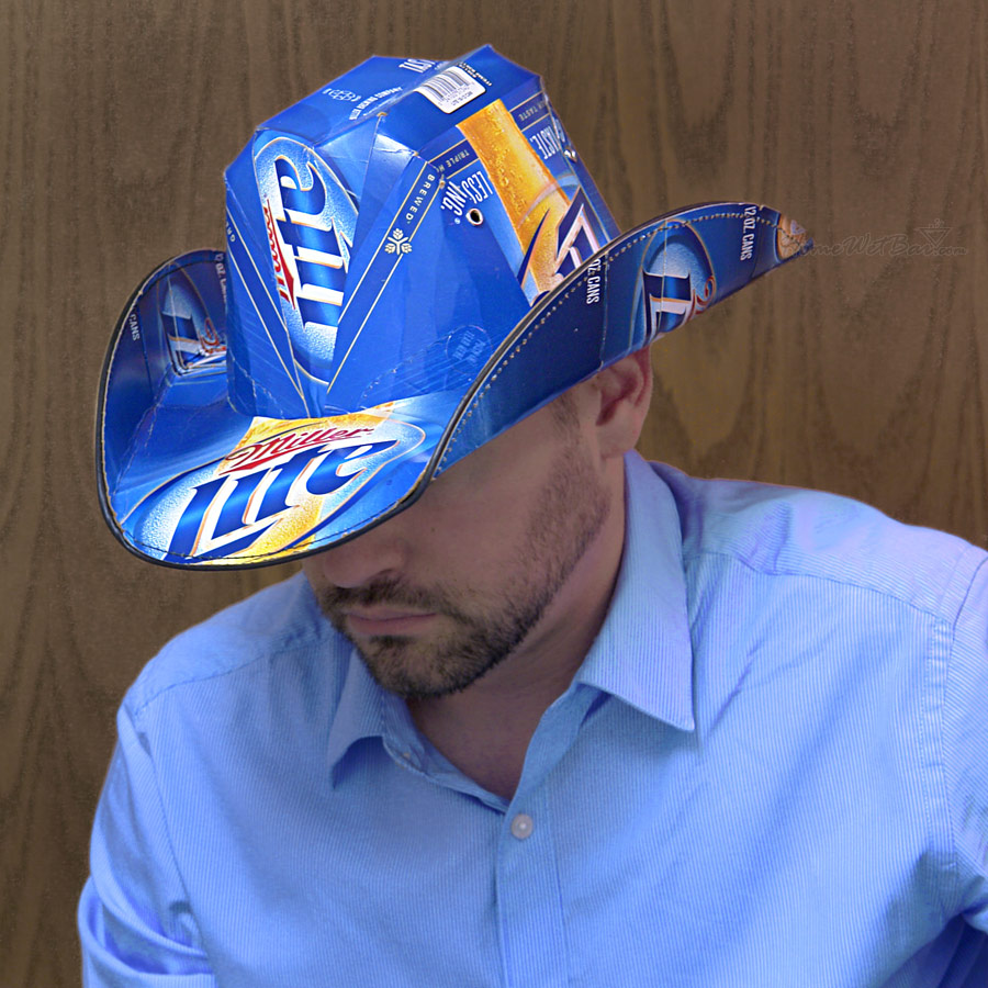 miller lite beer box cowboy hat « chugbuzz