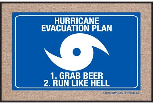 hurricane evacuation plan doormat e1330447839151 Hurricane Evacuation Plan Doormat
