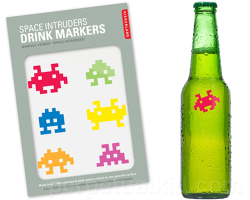 space invaders drink markers Space Invaders Drink Markers