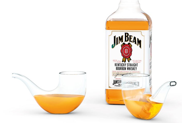 jim beam pipe glass e1350670735801 Jim Beam Pipe Glass