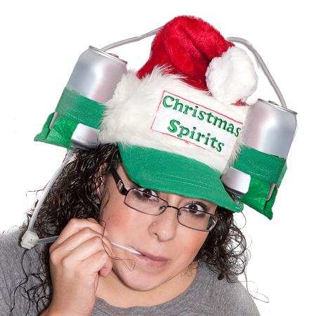 santa drinking hat Santa Drinking Hat