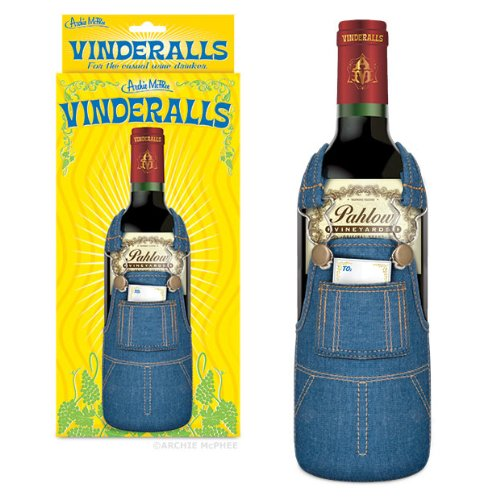 vinderalls Vinderalls, Overalls Wine Bottle Cover